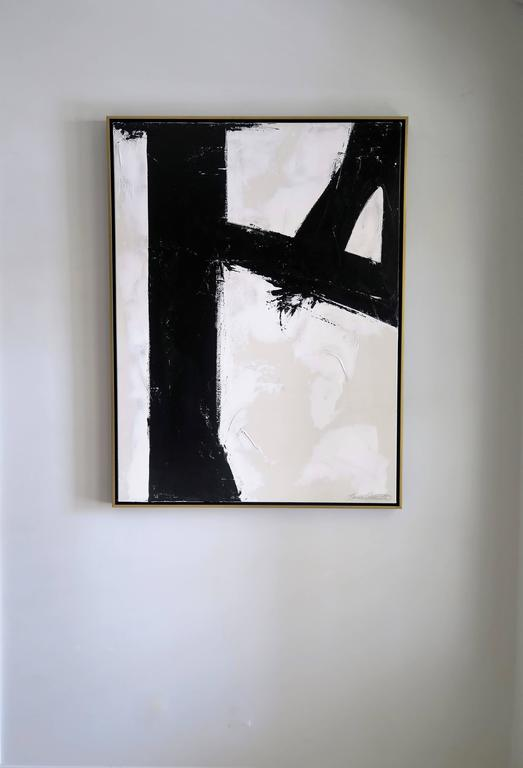 """""""Quiet Confidence"""" Original Black and White Abstract by Karina Gentinetta 9"""