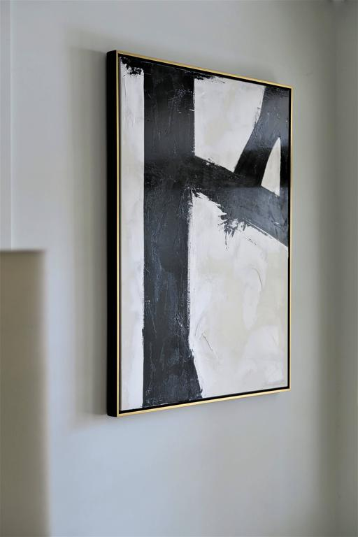 """""""Quiet Confidence"""" Original Black and White Abstract by Karina Gentinetta 10"""