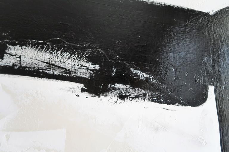 """""""Stay the Course"""" Original Black and White Abstract by Karina Gentinetta In Excellent Condition For Sale In New York, NY"""