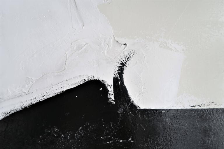 """Contemporary """"Stay the Course"""" Original Black and White Abstract by Karina Gentinetta For Sale"""
