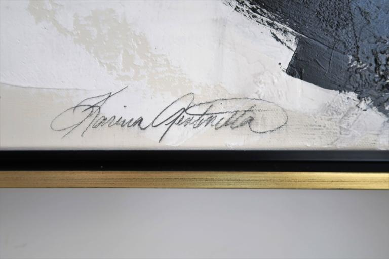 """""""Stay the Course"""" Original Black and White Abstract by Karina Gentinetta For Sale 1"""