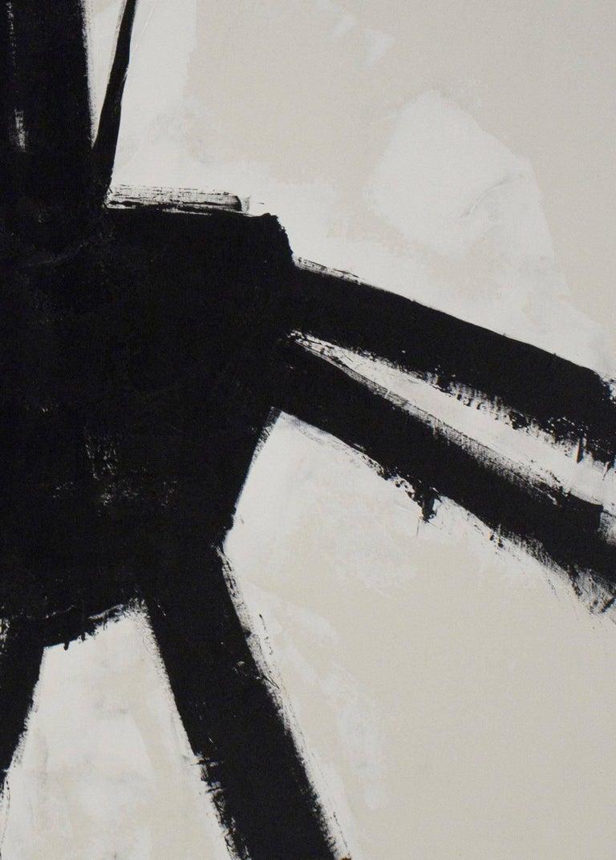 """El Choclo"" Original Black and White Abstract Painting by Karina Gentinetta 2"