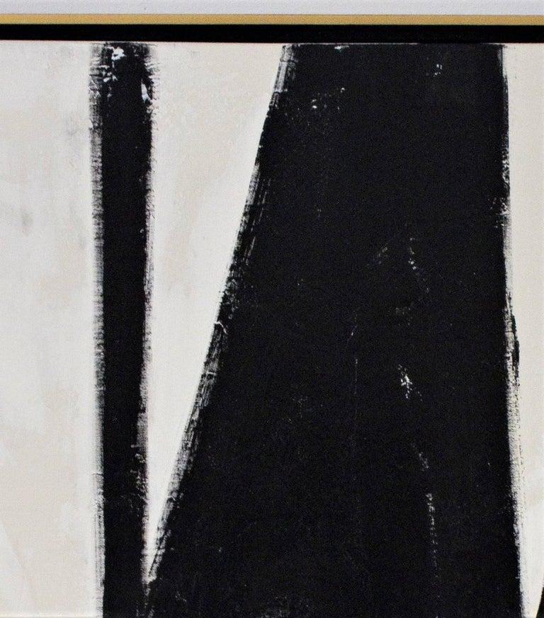 """El Choclo"" Original Black and White Abstract Painting by Karina Gentinetta 4"