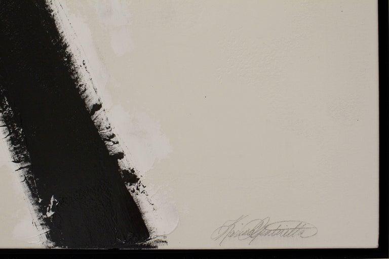 """El Choclo"" Original Black and White Abstract Painting by Karina Gentinetta 6"