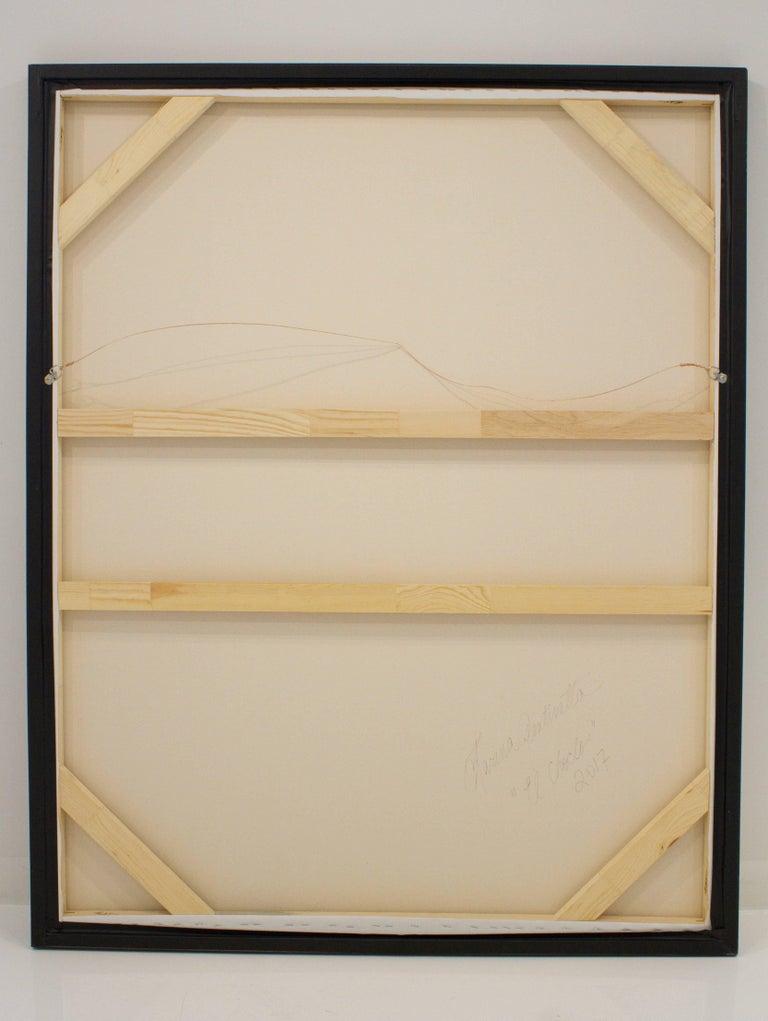 """El Choclo"" Original Black and White Abstract Painting by Karina Gentinetta 7"