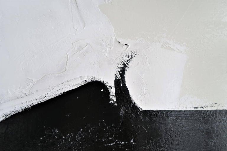 """El Choclo"" Original Black and White Abstract Painting by Karina Gentinetta 8"