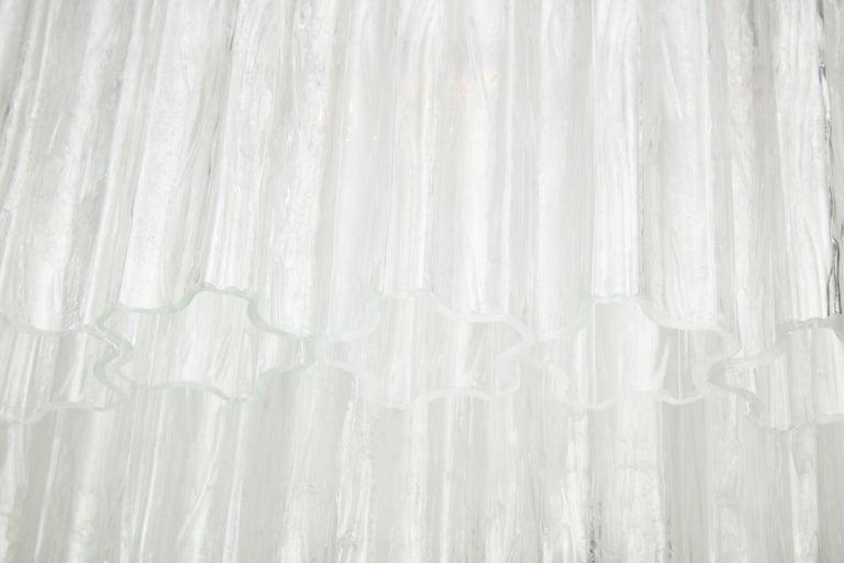 "Large Italian Venini Mid-Century Modern Clear Murano Glass ""Tronchi"" Chandelier 4"