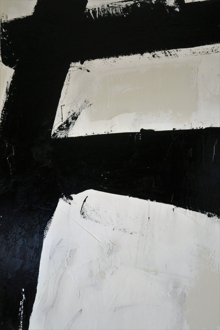 """""""Bold Encounter"""" Original Black and White Abstract by Karina Gentinetta, Signed 5"""