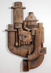 Abstract Wood Wall Sculpture Relief