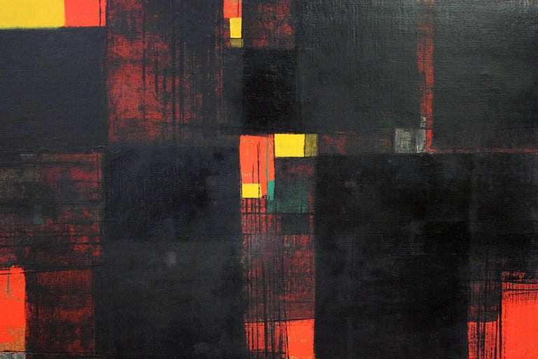 Norwegian Gunnar S. Gundersen Abstract Oil on Canvas, 1957 For Sale