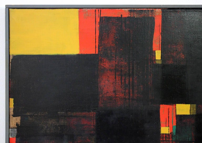 Gunnar S. Gundersen Abstract Oil on Canvas, 1957 In Excellent Condition For Sale In San Diego, CA
