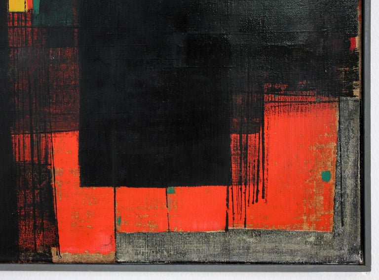 20th Century Gunnar S. Gundersen Abstract Oil on Canvas, 1957 For Sale