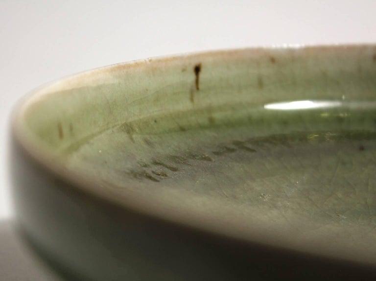Laura Andreson Green Celadon Porcelain Art Pottery Bowl For Sale 4