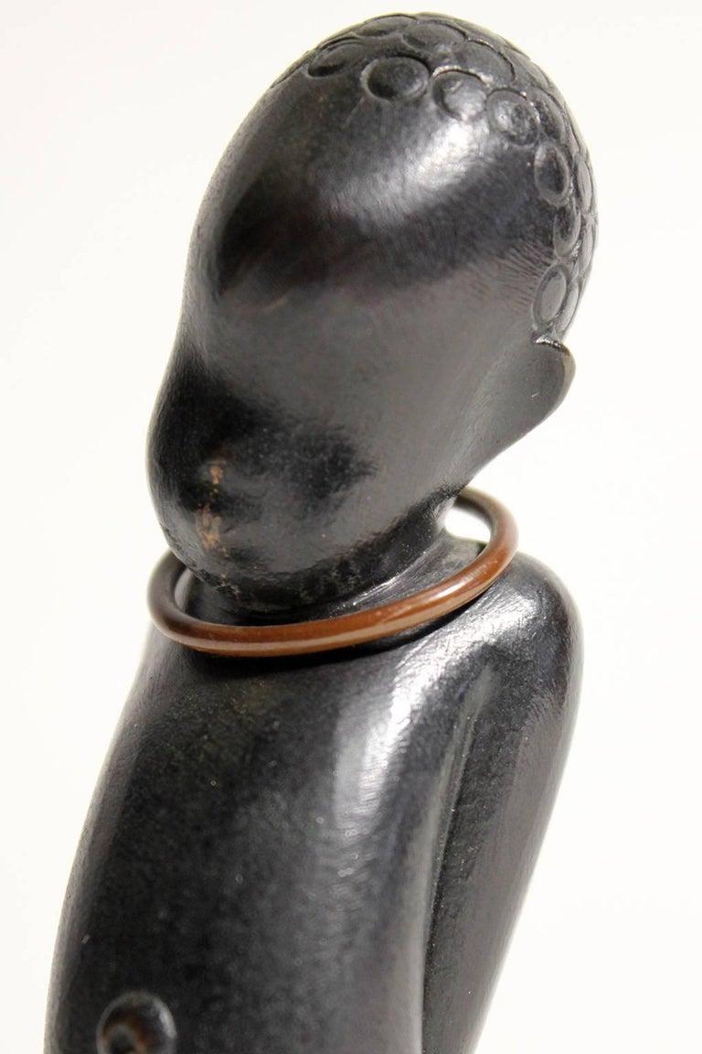 Art Deco Karl Hagenauer Vienna Austria Bronze African Child Figurine Sculpture For Sale 3