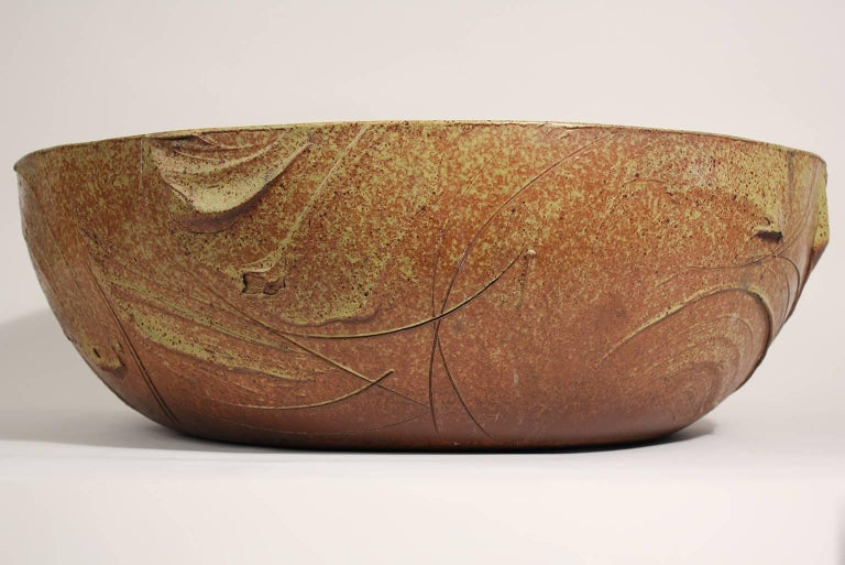 Mid-20th Century Large Scale Pro/Artisan Architectural Pottery Planter Sculpture by David Cressey For Sale