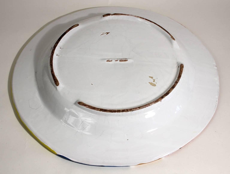 Vintage DeSimone Italian Pottery Large Charger For Sale 5