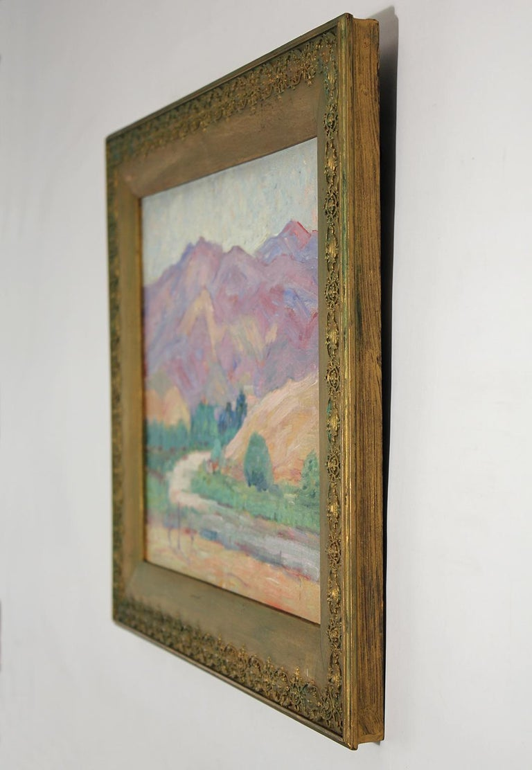 Mid-20th Century Listed San Diego Artist Bess Gilbert Impressionist Plein Air Oil Painting, 1930s For Sale
