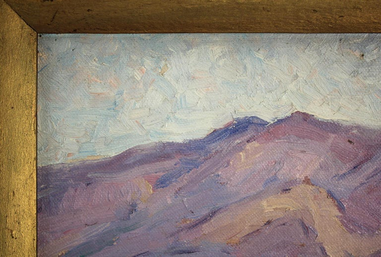 Listed San Diego Artist Bess Gilbert Impressionist Plein Air Oil Painting, 1930s For Sale 4