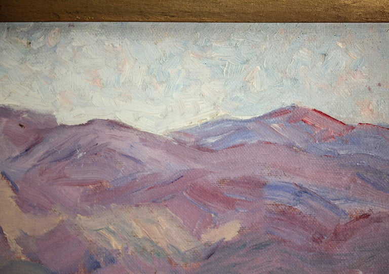 Listed San Diego Artist Bess Gilbert Impressionist Plein Air Oil Painting, 1930s For Sale 5