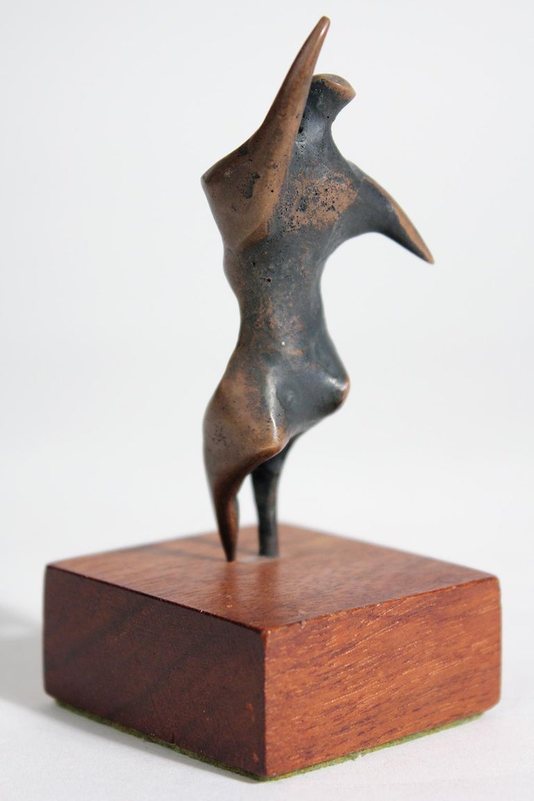 20th Century Jack Boyd Bronze Abstract Modernist Sculpture For Sale
