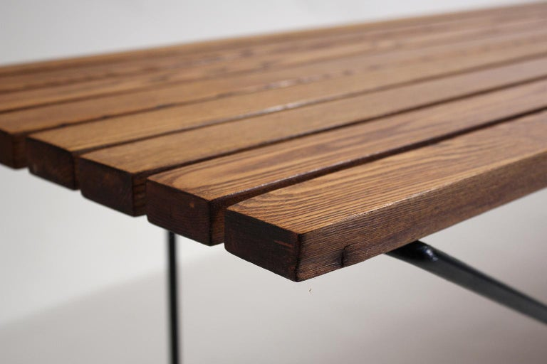 Early Harry Bertoia Wood Slat Bench for Knoll International, circa 1960 For Sale 2