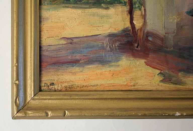 Listed San Diego California Artist Bess Gilbert Oil Painting Balboa Park For Sale 1