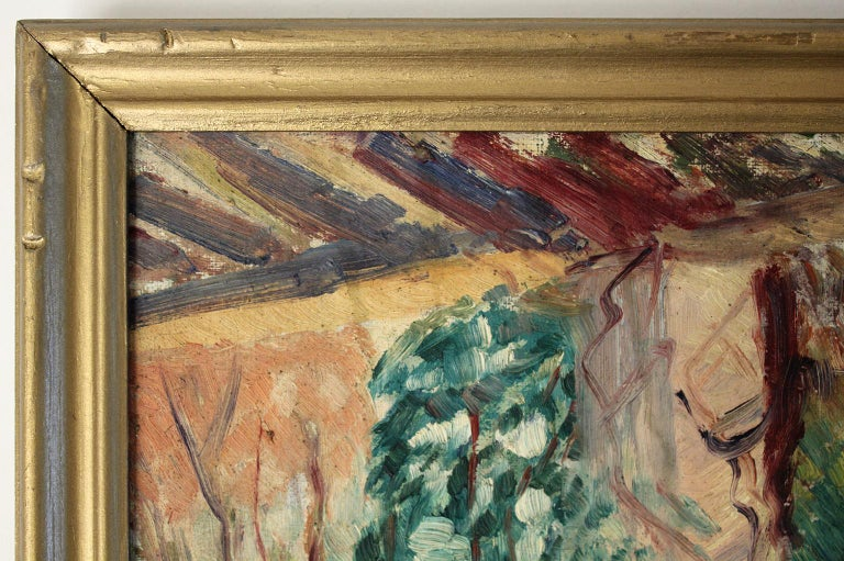 Listed San Diego California Artist Bess Gilbert Oil Painting Balboa Park For Sale 3