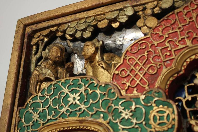 19th Century Chinese Carved Giltwood Panel For Sale 3