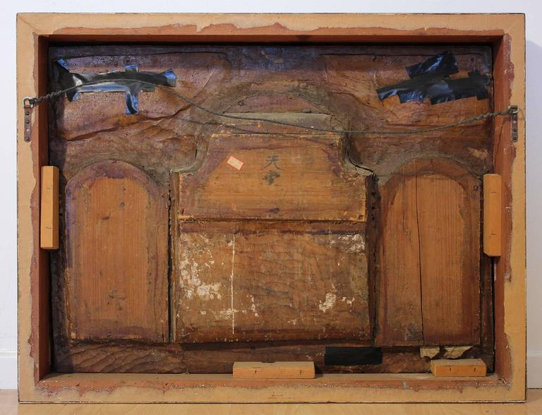 19th Century Chinese Carved Giltwood Panel For Sale 6