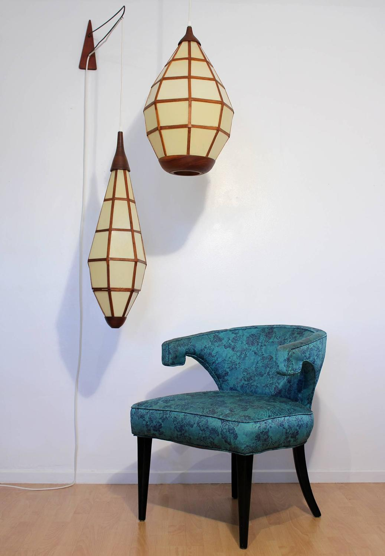 mid century california design hanging lamps at 1stdibs. Black Bedroom Furniture Sets. Home Design Ideas