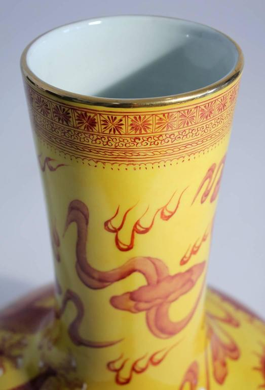 Vintage Chinese Hand-Painted Imperial Dragon Large Porcelain Vase 8