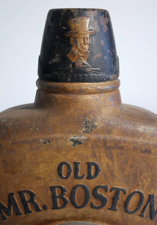 Antique Old Mr Boston Fine Liquors Advertising Flask