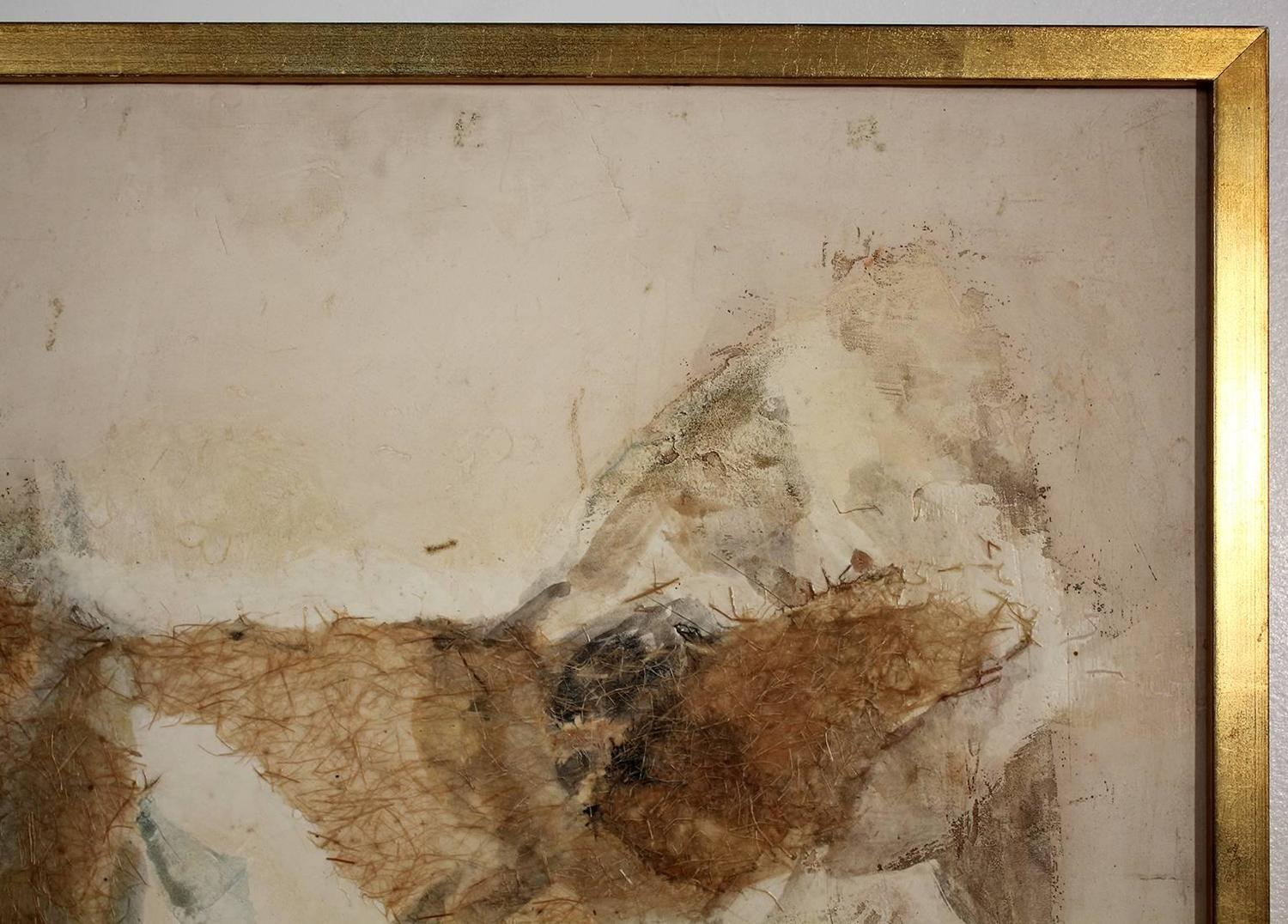 Margaret Ash Abstract 1950s Mixed Media Painting For Sale