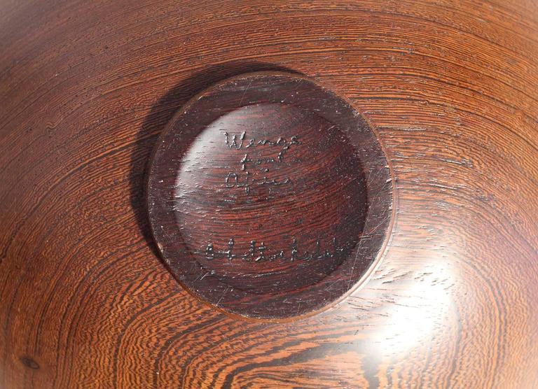 Bob Stocksdale Turned Wood Art Bowl For Sale 4
