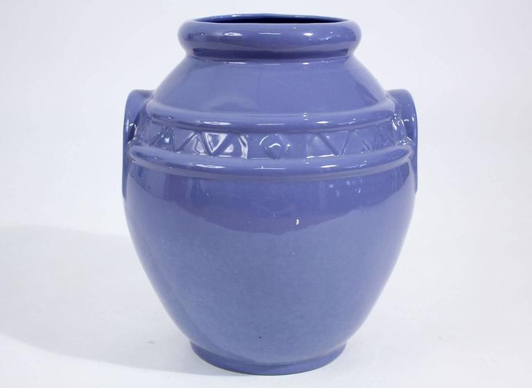 Beautiful handled Arts and Crafts Alamo Pottery garden oil jar/urn. In excellent shape with no damage. Is marked on the bottom. Great design and shape.
