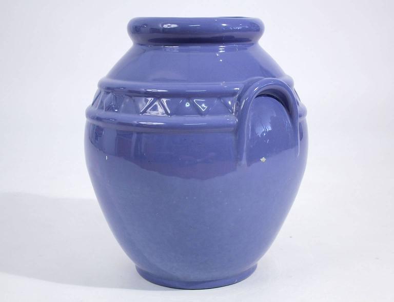Arts and Crafts Arts & Crafts Large Alamo Pottery Garden Oil Jar Urn Jardiniere For Sale