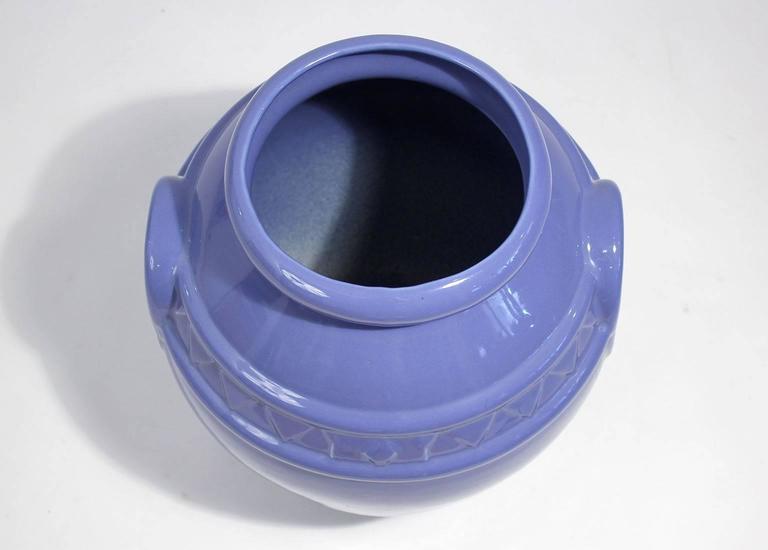 20th Century Arts & Crafts Large Alamo Pottery Garden Oil Jar Urn Jardiniere For Sale