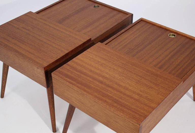 Brown Saltman End Tables by John Keal For Sale 5