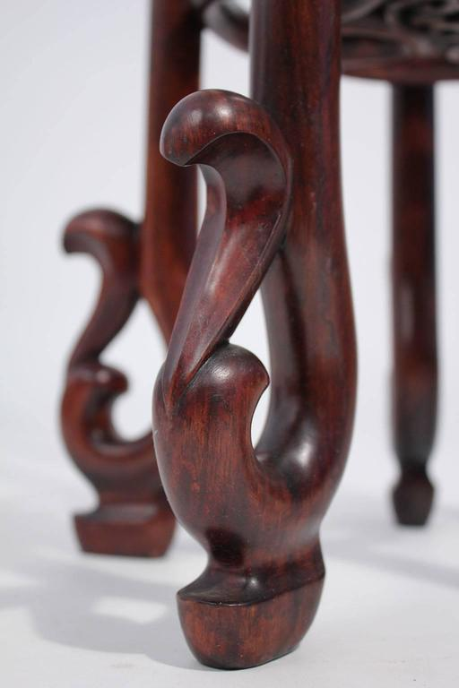 Antique Chinese Carved Rosewood Floor Plant Stand At 1stdibs