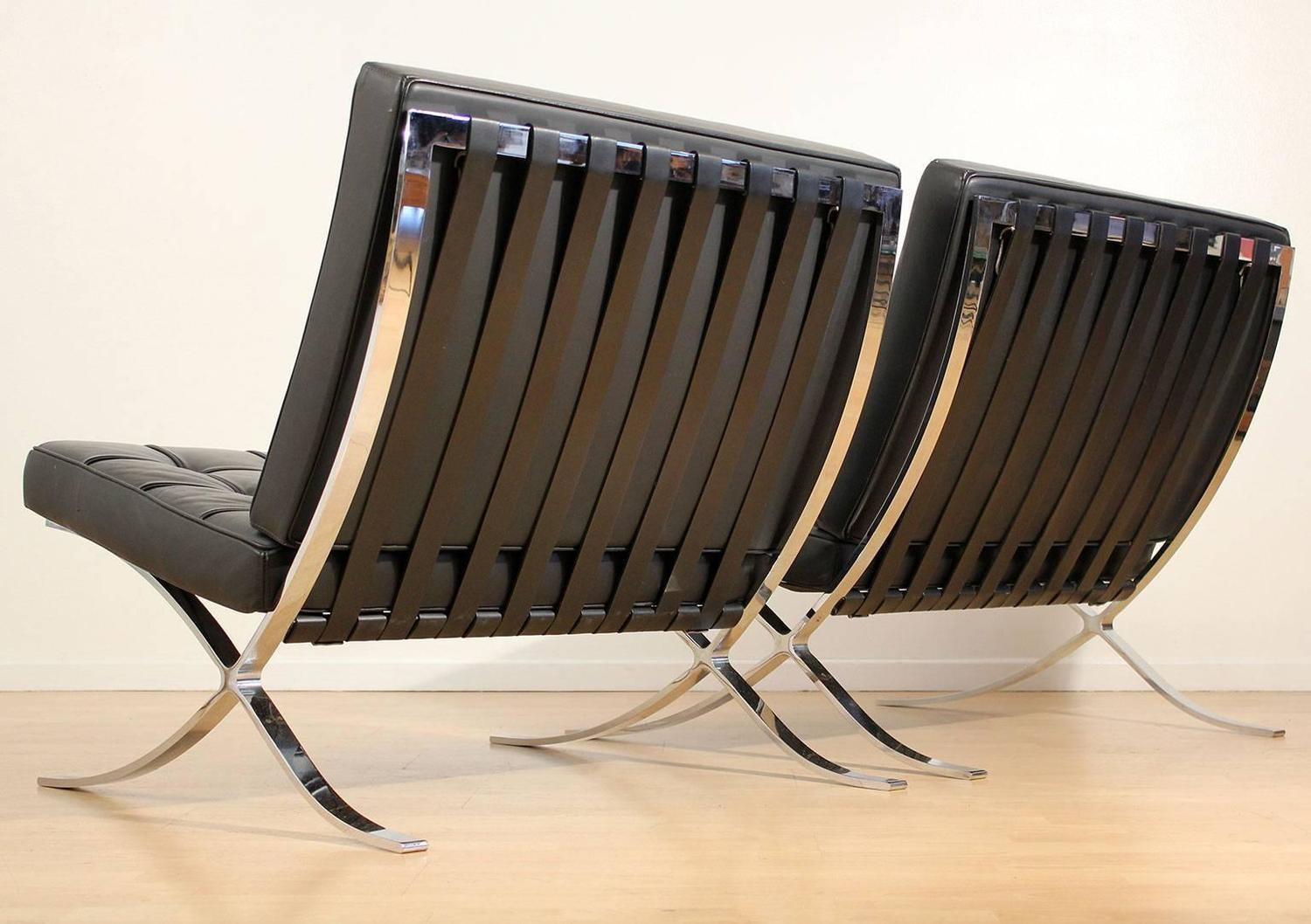 mies van der rohe barcelona chairs for knoll for sale at 1stdibs. Black Bedroom Furniture Sets. Home Design Ideas