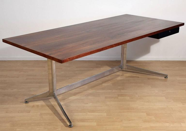 Attrayant Mid Century Modern Ward Bennett Rosewood Executive Architectural Desk For  Lehigh Furniture For Sale