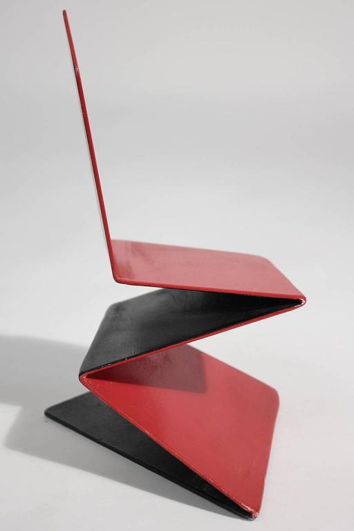 Bruce Gray Abstract Enamel and Steel Furniture Design Model Sculpture In Excellent Condition For Sale In San Diego, CA