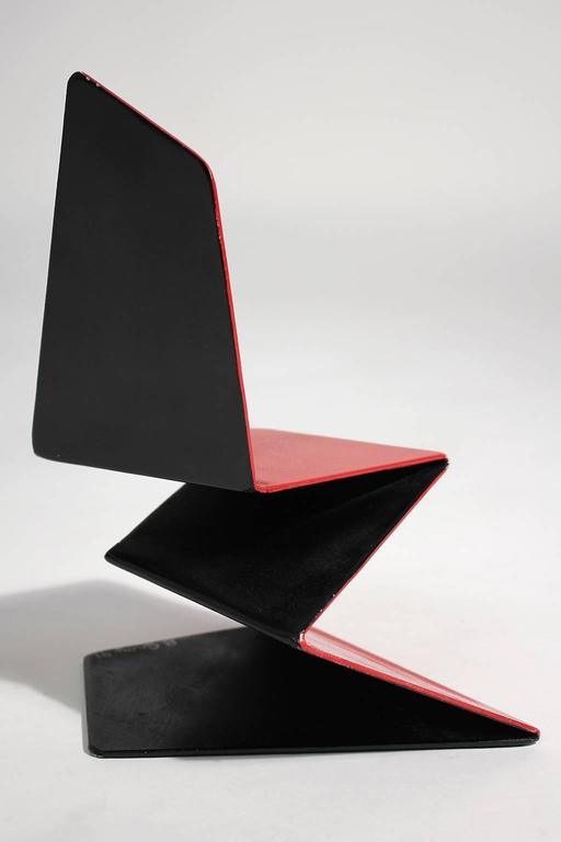 Late 20th Century Bruce Gray Abstract Enamel and Steel Furniture Design Model Sculpture For Sale