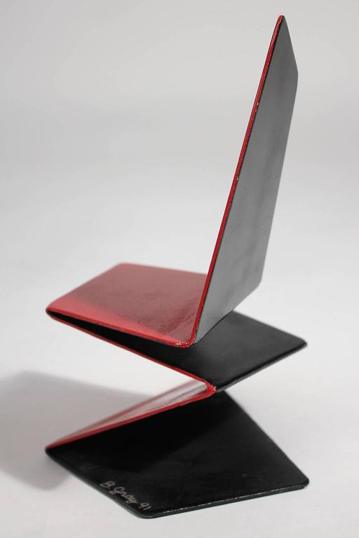 Bruce Gray Abstract Enamel and Steel Furniture Design Model Sculpture For Sale 1