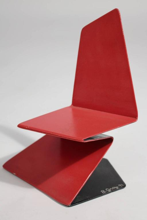 Bruce Gray Abstract Enamel and Steel Furniture Design Model Sculpture For Sale 2