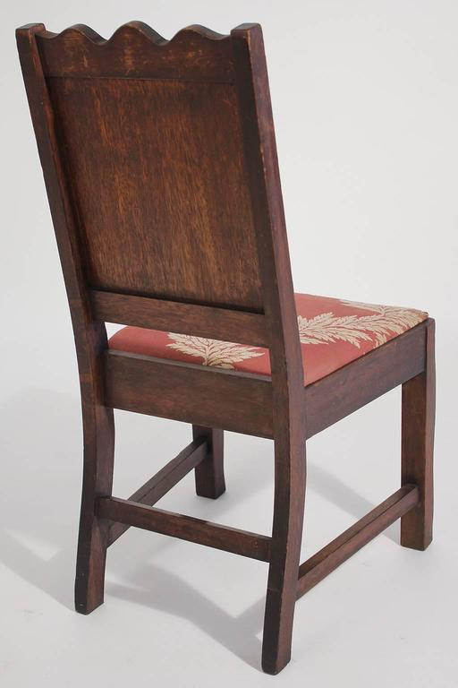 20th Century Antique Oak Arts & Crafts Hand Painted Monterey Mission Accent Chair from Church