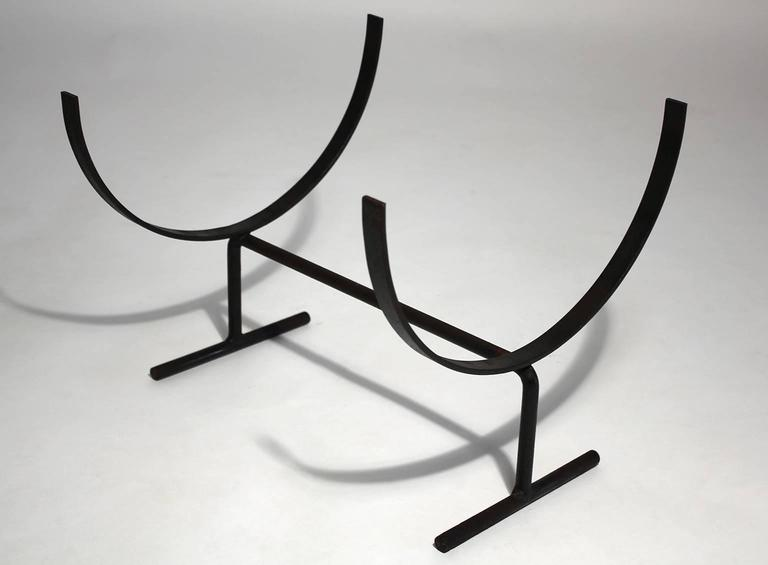 Modernist Wrought Iron Log Holder 2