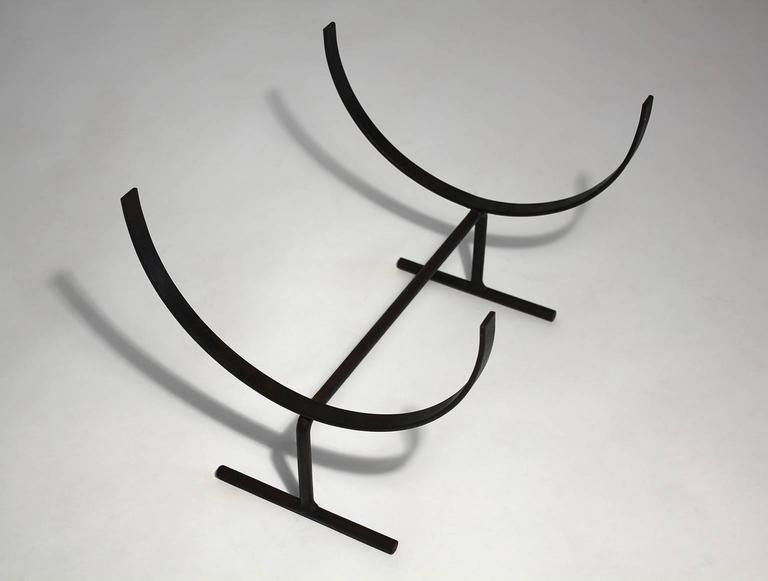 Modernist Wrought Iron Log Holder 3