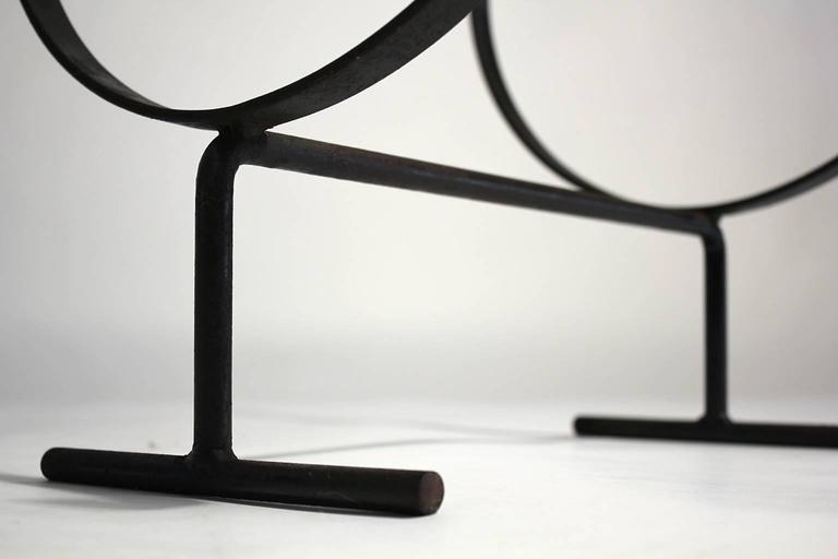 Modernist Wrought Iron Log Holder 4