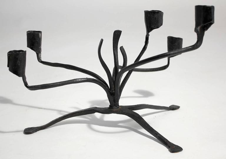 Forged Iron Candelabra by C. Carl Jennings For Sale 3